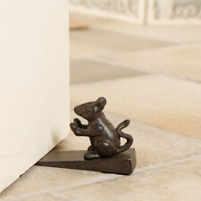 Antique Brown Vintage Cast Iron Mouse Heavy Doorstop Door Wedge Doorstopper