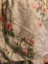 Ralph Lauren Meadow Way Bedskirt Floral Pink Ivory White Green FULL DOUBLE
