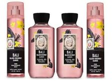 4 Piece Bath & Body Works Bali Black Coconut Sands Set - Shower Gel & Fragrance