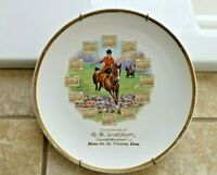 1914 Calendar Plate ~Side Saddle Woman Equestrian Horse G W WASHBURN, Wheaton KS