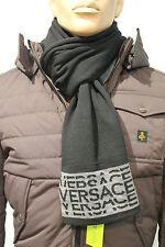 SET Sciarpa + Cappello Cuffia Versace Jeans Uomo Man Idea Regalo Natale Nero