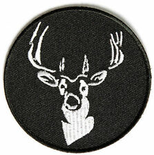 Round Deer Hunting Gun NRA Embroidered Buck MC Club Biker Vest Patch PAT-2689