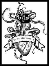 Kraken Rum, Retro metal Aluminium Vintage Sign, Gift, Bar/Pub