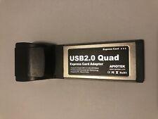 Apiotek Quad Usb 2.0 Express Card Adapter