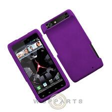 Motorola XT912 Droid Razr Shield Rubberized Purple Case Cover Shell Protector