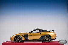 1/18 BBR Mansory Ferrari 599 Stallone in Gold Limited #08/15 pcs Leather Base