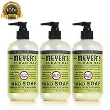 Mrs Meyers Hand Soap Lemon Verbena Fluid Aloe Vera Gel Olive Oil Plant Natural