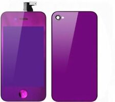 Mirror Purple iPhone 4G GSM LCD Touch Screen Digitizer + Back Cover