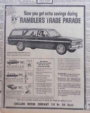1963 newspaper ad for Rambler - 770 Station Wagon, American 220, Classic 550
