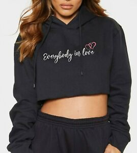 JLS Everybody In Love Women's Cropped Hoodie Fashion 2021 Music Tour T-Shirt