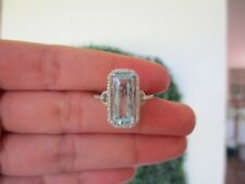 Topaz Ring with Diamonds 14K White Gold sep (PRE-ORDER)