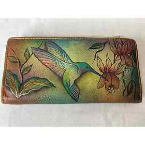 Anuschka Hand Painted Leather Wallet