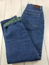 L.L. BEAN Double L Relaxed Fit Flannel Lined Jeans Women's 12R (Act. 29x30)  L46