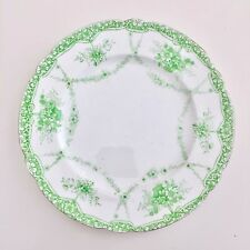 Wileman Gainsborough shape replacement side plate, Floral Garlands green