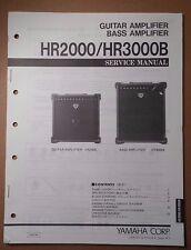 Original Yamaha HR2000 HR3000B Guitar/ Bass Amplifier SERVICE Manual