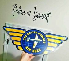 """26"""" Air dock plane gold wings plane STEEL aviation sign Take Off Landing airline"""