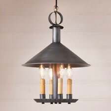 Smethport Pendant Light Antiqued Tin Country Colonial Indoor Lighting 4 Light