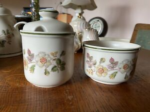 Marks And Spencer Autumn Leaves Sugar Bowl And Jam/Marmalade Pot
