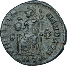 GRATIAN Original 378AD Antioch Authentic Ancient Roman Coin Rome as Roma i65917