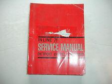 Detroit Diesel Inline In-Line Series 71 Engine Service Shop Repair Manual   9/73