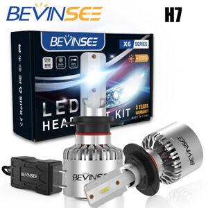 H7 6000K LED Headlight Bulbs For Kawasaki Ninja ZX10R ZX1000 ABS 04-05 2011-2018