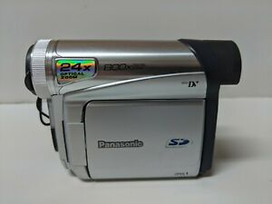 Panasonic PV-GS15 Mini DV Camcorder, No Battery, Powers On and Video Works
