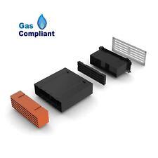 "9"" x 3"" Extendable Cavity Wall Sleeve Vent with Terracotta Air Brick Ventilator"