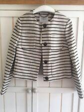 LK BENNETT Gia Black Multi Striped Linen Jacket, UK 10 EU38, BNWT £275