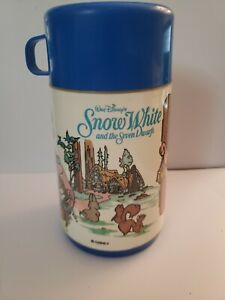 VTG Disney Snow White and the Seven Dwarfs Lunchbox Thermos Excellent