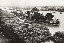 1934 Vintage CHINA ~ Guangzhou Ship Boat Port Harbor Landscape Photo Art 11x14