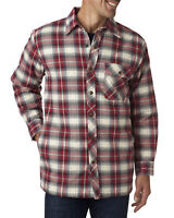 BP7002 Backpacker Men's Flannel Shirt Jacket with Quilt Lining