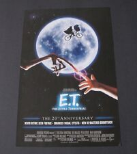 E.T.: EXTRA TERRESTRIAL MOVIE 20TH ANNIVERSARY POSTER 11 X 17