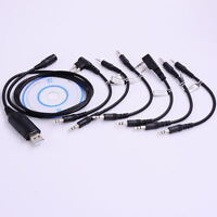 6 in 1 Ham Radio USB Programming Cable+CD for Motorola HYT ICOM BAOFENG KENWOOD