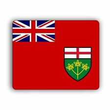 Mouse Pad Ontario Provincial Flag Design Computer Mouse Pad Canada Province