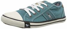 Mustang Ladies 5 Eye Canvas Toecap Trainers. All Colours. 1099-302