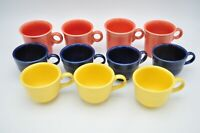 Vintage Homer Laughlin Fiesta Rose Yellow Navy Coffee Cups Mugs Teacup Lot of 11