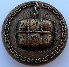 "Finland 1975 Bronze Art Medal ""Finnish Foreign Trade Agents"" 324 gr 70 mm / N140"