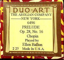 DUO-ART Chopin PRELUDE Op.28 No.6 Ellen Ballon 6496 Original Player Piano Roll