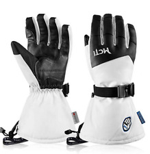 Men Women Adjustable Ski Gloves Waterproof Winter Snowboard Touch Screen Leather