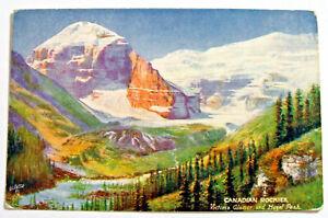 Postcard - CANADIAN ROCKIES, VICTORIA GLACIER & HAZEL PEAK, TUCKS 2519 (MW7-1)