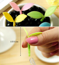 Sillicon Cute Luminous Leaf Dust Plug Gel Pen Stationery School Office Pens