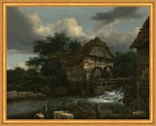 Two watermills and an Open sluice Jacob isaacksz. van ruisdael Moulin B a1 02324