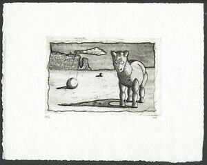 Unusual SURREALIST FANTASY FUTURIST Style Etching Low Edition 6/11 Signed WD?