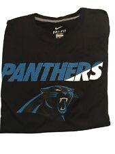 Carolina panthers Nike Dri-Fit 2XL SS Black Dri-Fit T-Shirt