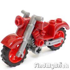 BM313 Lego Capitán América Minifigura Moto Bicicleta Vintage - Rojo Oscuro -