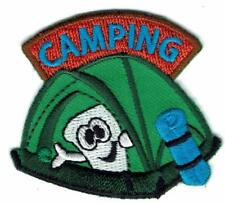 Girl Boy Cub CAMPING Camp Out Fun Patches Crests Badge SCOUTS GUIDE Marshmallow
