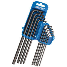 Draper Extra Long Reach Arm Pattern Torx TX-STAR Trx Key Set 9 Pce S2 Tool Steel