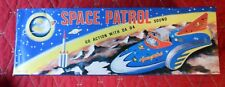 Space Patrol Push Tin Toy Go Action with Da Da Sound MetalMania NIB FREE SHIP