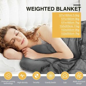 Cooling Weighted Blanket Heavy Gravity Deep Relax For Kids Adult 5.5/7/9/11KG