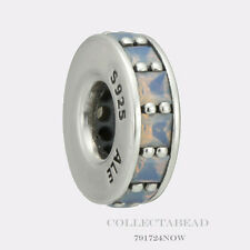 Authentic Pandora Silver Eternity Opalescent White Crystal Bead 791724NOW